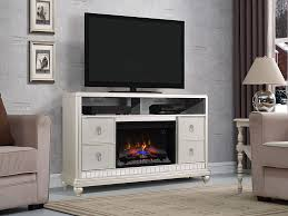 Electric Fireplace Tv Stand Diva Electric Fireplace Tv Stand In Platinum Silver