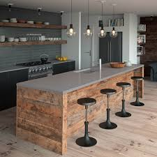 ceasar stone sleek concrete countertops kitchen design