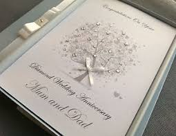 60th wedding anniversary greetings diamond 60th wedding anniversary card handmade personalised box