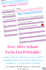 free printable chore list for kids must have mom