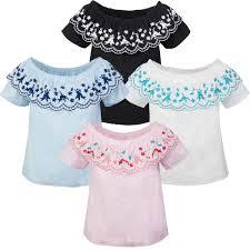 designer t shirt damen designer damen bluse top tunika blumenstickerei ausschnitt