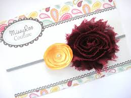 burgundy headband burgundy headband burgundy and gold hairbow baby girl headband