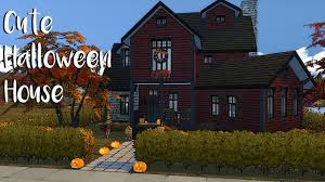the sims 4 speed build halloween house part 1 cc links youtube