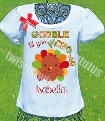 boys thanksgiving shirt gobble til you wobble twistin twirlin tutus