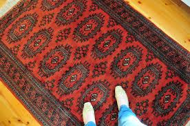 Large Red Area Rug Vintage Turkoman Bokhara Rug Pakistani Rug Large Area Rug