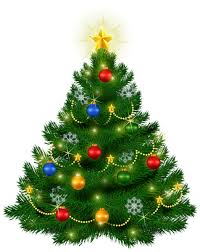 beautiful christmas tree png clipart image vintage postcards