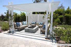 Backyard Fire Pits For Sale by Outdoor Pergola And Fire Pit The Sunny Side Up Blog