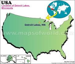 map usa detroit where is detroit lakes minnesota