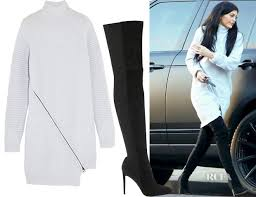 jenner sweater jenner s opening ceremony zip detailed ribbed wool sweater