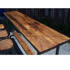 Reclaimed Wood Bar Table Reclaimed Wood Furniture Industrial Style Bar Table W Metal Pipe