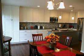 Black And White Kitchen Transitional Kitchen by Bkc Kitchen And Bath Kitchen Remodel Mid Continent Cabinetry