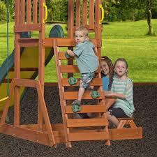 backyard discovery prestige all cedar wood playset swing set wood