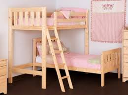 Ft  Small Single HEAVY DUTY Solid Pine L Shaped Bunk Bed - Small single bunk beds