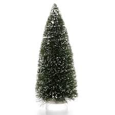 christmas tree with snow bottle brush christmas trees 12 inch green sisal tree