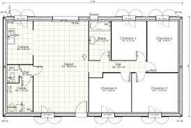 plan de maison plain pied 4 chambres plan maison plain pied gratuit enchanteur 4 chambres de plein