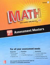 Glencoe Geometry Worksheets Amazon Com Glencoe Math Assessment Masters Ccss Common Core