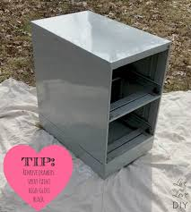 Chalk Paint On Metal Filing Cabinet File Cabinets Mesmerizing Painting Metal File Cabinets
