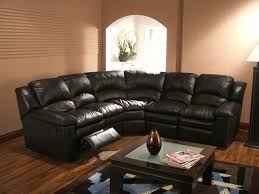 Black Leather Sectional Sofa Black Leather 5 Seater Recliner Sectional Sofa Centerfieldbar Com