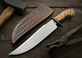 thorn bowie u2013 burt foster handmade knives