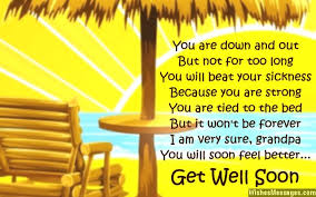 greeting card for sick person get well soon poems for wishesmessages