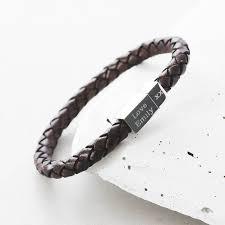 Name Engraved Bracelets Men U0027s Leather Bracelets Bracelets For Him Notonthehighstreet Com
