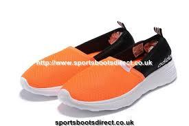 Neo Slip On by Adidas Neo Cloudfoam Lite Racer Slip On Womens Shoes Orange Black