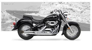 suzuki motorcycle black suzuki c50 motorcycle exhaust sideburner chrome hard krome