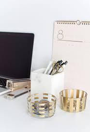 Diy Desk Organizer by Diy Gold Pattern Desk Organizers Homey Oh My
