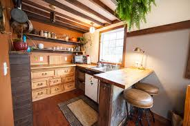 Micro House Interior Design Tour Of A Hand Crafted Rustic Tiny House In Portland Oregon