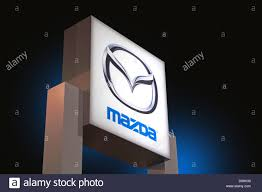 mazda logos mazda automobile logo stock photo royalty free image 57176420