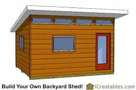 Backyard Shed Ideas 14x16 Modern Studio Shed Plans Icreatables