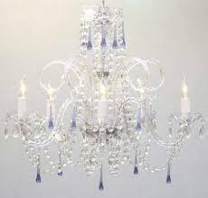 blue crystal chandelier light 45 ideas of blue crystal chandelier