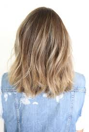 medium length hair styles from the back view shoulder length haircuts for women front and back view back view