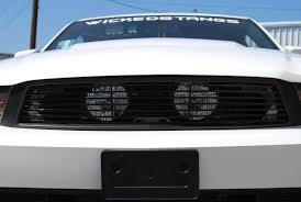 2011 mustang gt black 2010 12 mustang gt fog light billet grille black hides