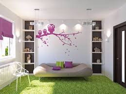 very natural bedroom design with green floor and beautiful flower