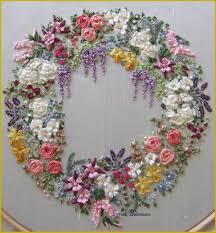 silk ribbon embroidery pdf garland of silk ribbon flowers pattern for silk ribbon
