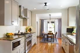 open floor plan with galley kitchen house decorations