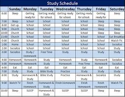 study schedule template u2013 5 free templates schedule templates