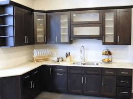 frosted glass backsplash in kitchen black kitchen cabinet with frosted glass door plain white countertop