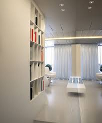 book shelving interior white nieche wall storage in mirrored hall