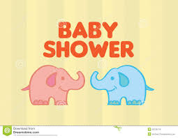 cute baby elephants vector illustration for baby shower stock