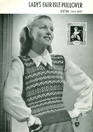vintage knitted vest pattern crafts knit vest