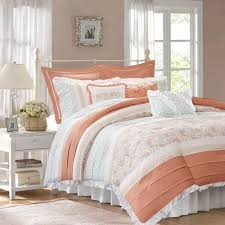 California King Duvet Set Shop Madison Park Dawn Comforter Collection Coral The Home