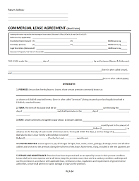 Free Lease Agreement Washington Commercial Lease Agreement Free Download