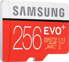 Memory Card Samsung 256gb samsung evo plus 256 gb microsdxc class 10 90 mb s memory card