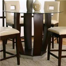 tempered glass top pub table set by cramco inc wolf and