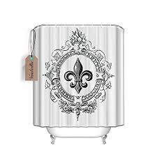 Fleur De Lis Bathroom Decor by Amazon Com Vintage French Fleur De Lis Shower Curtain Standard