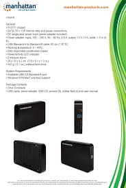 amazon com manhattan superspeed usb 3 5 inch sata drive enclosure