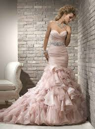wedding dress party buy cheap pink beading mermaid dress for wedding party