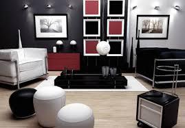 living red black white living room